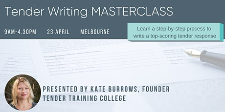 Tender Writing MASTERCLASS tickets