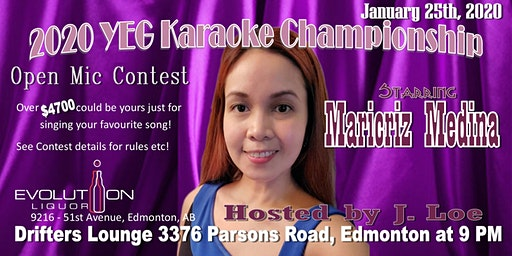 YEG Karaoke Night Hosted By J. Loe, Starring Maricriz Medina