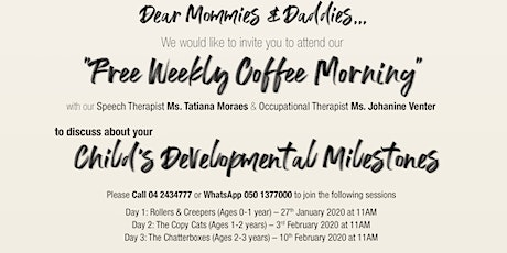 Coffee Morning with 7DMC - The Copy Cats (Ages 1-2 years) tickets