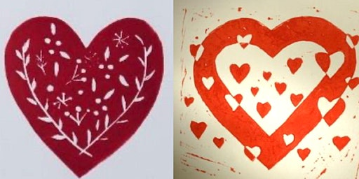 Valentine's Day Cards - Introductory Printmaking
