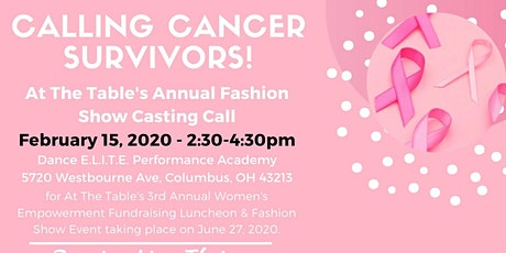 At the Table's Annual Fashion Show Casting Call for Women & Men tickets