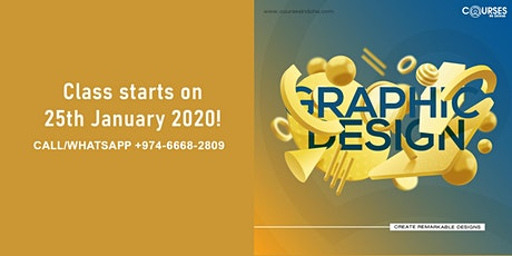 Start class in Graphic Design on 25th of January 2020. Limited seats left! biglietti