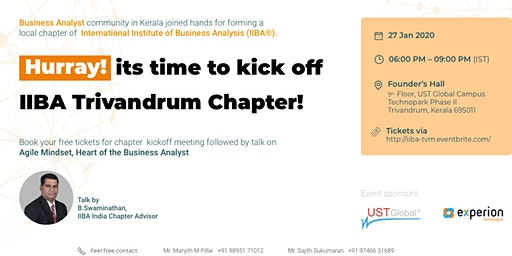 IIBA Trivandrum Chapter Kickoff
