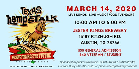 2nd Annual Texas Hempstalk 2020 tickets