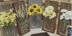 Create Flowers In Wire Jars at Craft Night at Bonnie...