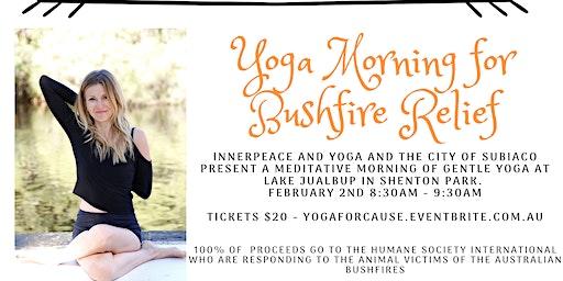 Yoga For Bushfire Relief Morning at Lake Jualbup