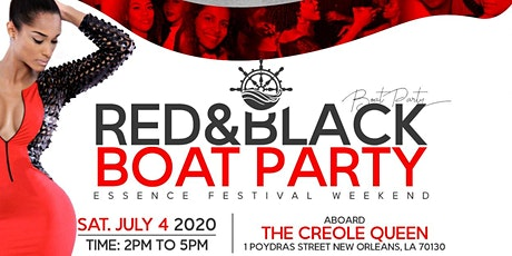 RED & BLACK BOAT PARTY Essence weekend tickets