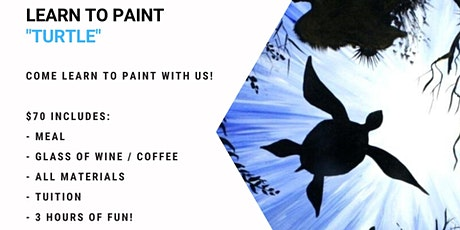 Sip 'n' Dip Sunshine Coast - Learn to paint 'Turtle' tickets
