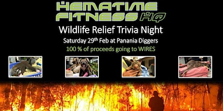 "Hematime Fitness ""Wildlife Relief"" Trivia Night - supporting WIRES tickets"