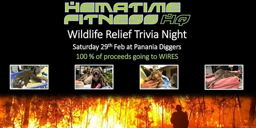 "Hematime Fitness ""Wildlife Relief"" Trivia Night - supporting WIRES"