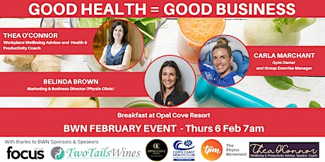 BWN February 2020 event - Good Health = Good Business tickets