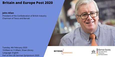 Britain and Europe Post 2020 tickets