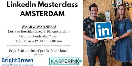LinkedIn Masterclass AMSTERDAM, incl. Profielfoto (€119,- ex BTW) tickets