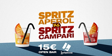 Spritz Aperol vs Spritz Campari - OPEN BAR biglietti