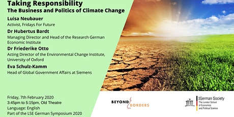 Taking Responsibility - The Business and Politics of Climate Change tickets