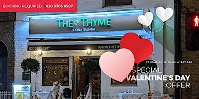 Valentine's Day | The Thyme Italian Restaurant in Chislehurst, Bromley