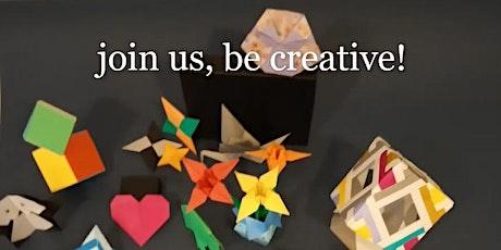 Origami classes  for teens bilhetes