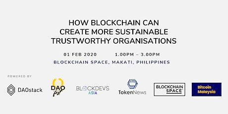 How Blockchain Can Create More Sustainable Trustworthy Organisations tickets