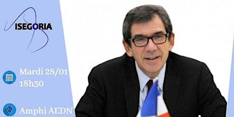 Conférence Isegoria avec le diplomate Jean Maurice Ripert billets