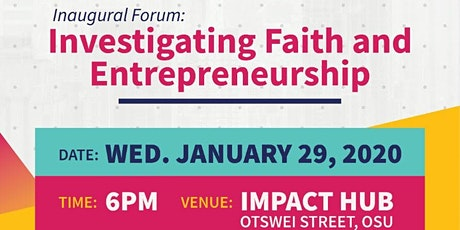 Investigating Faith and Entrepreneurship tickets