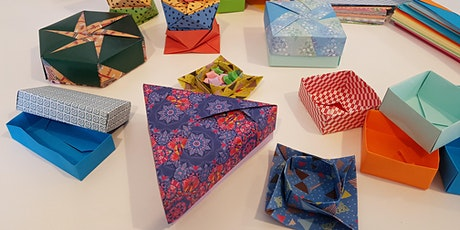 Origami boxes - workshop tickets