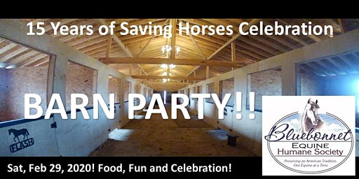 Bluebonnet Equine Humane Society 15 Years of Saving Horses Celebration