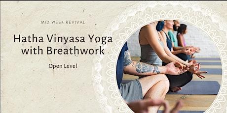 Hatha Vinyasa Yoga Class with Breathwork: Weekly Class tickets