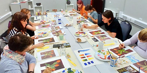 Develop Confidence with Acrylics Course: 4th,11th,18th & 25th Feb 10.30 - 1.30