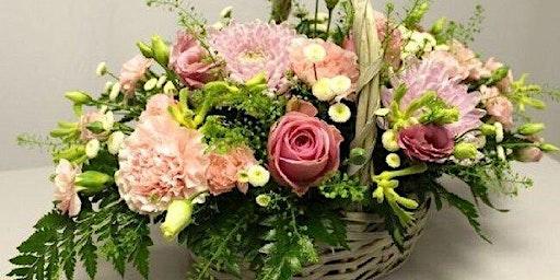Basket Arrangement Flower Arranging class