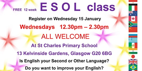 E S O L ( FREE CLASS) An ESoL tutor from Glasgow Clyde College will deliver an SCQF credit rated 4 tickets