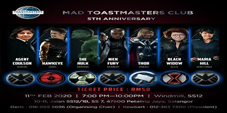 MAD TOASTMASTERS CLUB 5TH ANNIVERSARY tickets