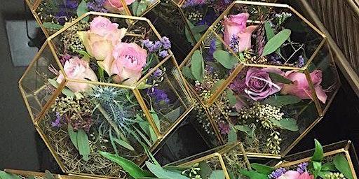 Create a floral Terrarium (floristry/flower arranging class)