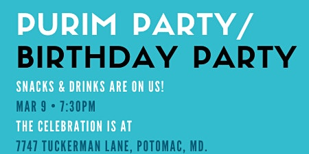 It's Purim/It's My Birthday!