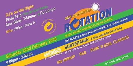 Rotation@Subterania 22-02-2020 tickets