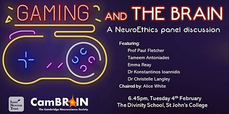 CamBRAIN: Gaming and the brain, a NeuroEthics panel discussion tickets