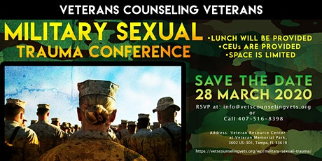 Veterans Counseling Veterans Military Sexual Trauma Conference tickets