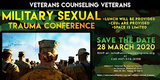 Veterans Counseling Veterans Military Sexual Trauma Conference
