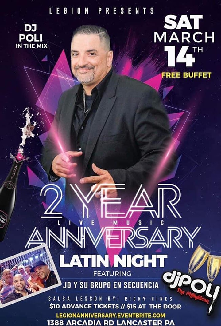 Salsa At The Legion 2 Year Anniversary image