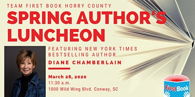 First Book Spring Author's Luncheon with Diane Chamberlain
