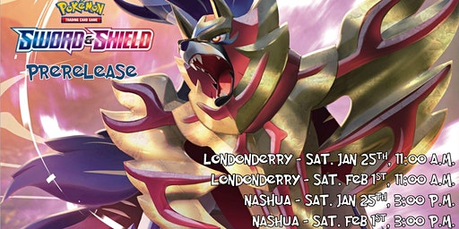Pokemon Sword and Shield Prerelease Londonderry Feb 1st