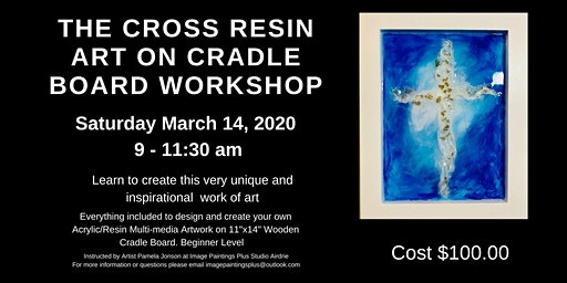 The Cross Multi-media Resin Art on Wooden Cradle Board