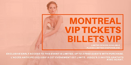 Opportunity Bridal VIP Early Access Montreal Pop Up Wedding Dress Sale