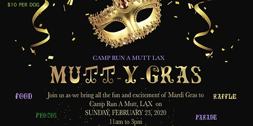 Mutt-y Gras Pet Event in support of K911ResQ