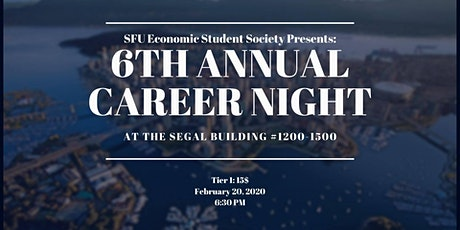 SFU Economics Student Society: 6th Annual Career Night tickets