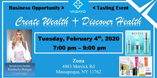 VASAYO - LONG ISLAND Business Opportunity and Tasting Event