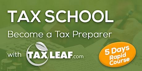 School Tax - Become a Tax Preparer with Taxleaf biglietti
