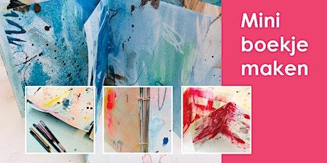 WORKSHOP mini boekje maken / creating your mini art journal tickets