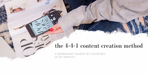 "EWEducation presents The 4-4-1 content creation method"" - Courtney Jo Beitz"