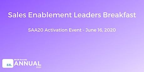 Sales Enablement Leadership Breakfast tickets