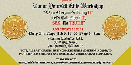 Honor Yourself Elite Workshop  by The Sister Circle of Love and Empowerment tickets
